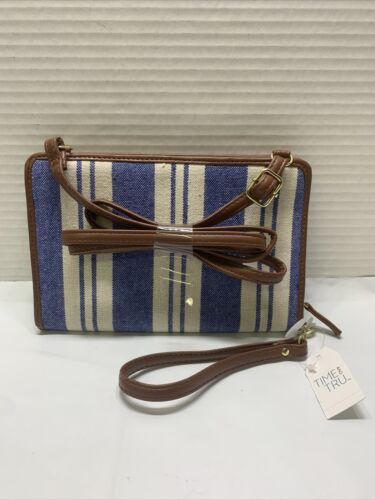 Details about  /Time and Tru Travel Compartments Wallet Crossbody Wallet