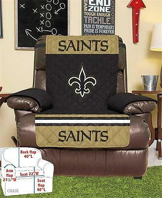 NEW ORLEANS SAINTS FOOTBALL TEAM ARMCHAIR RECLINER FURNITURE PROTECTIVE COVER