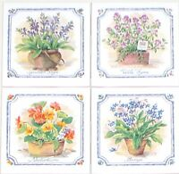 Herb Ceramic Tile Mural Accents 4 Of 4.25 Flower Kiln Fired Decor Wall Tiles