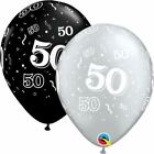 """NEW  Wedding  Party Sparkling Golden Anniversary 4 Sided Latex Balloons 11/""""//27.5"""