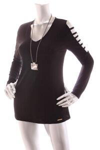 NEW-Michael-Kors-Women-Cut-Out-Cold-Shoulder-Stretch-Jersey-Top-Black-S-L