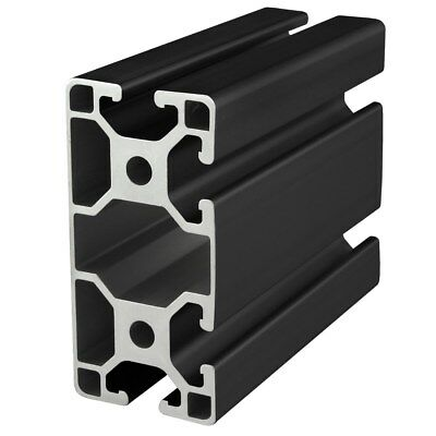 80//20 Inc 40mm x 80mm Aluminum Extrusion 40 Series 40-4084-Lite-Black x 1525mm N