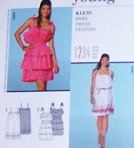 Prom SUNDRESS Pattern 6 8 10 12 14 16 18 dress with lots RUFFLES gathered CUTE !