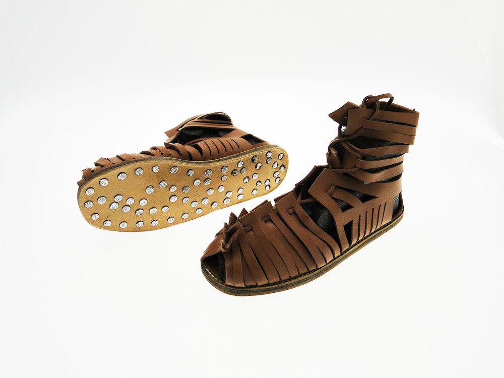 Caligae sandali romani in vero cuoio