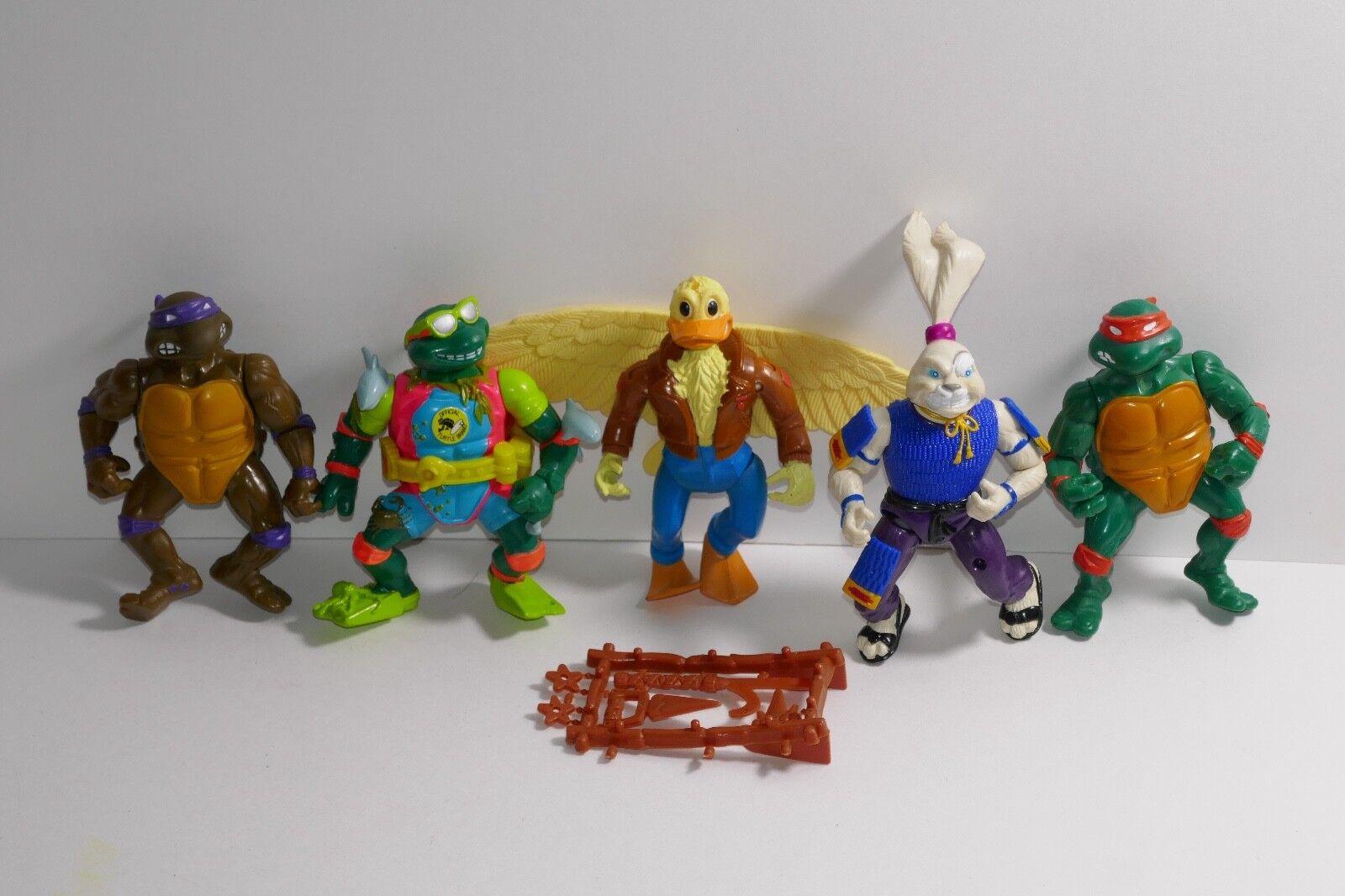 Playmates 1989 1990 TMNT Teenage Mutant Ninja Turtles Loose Action Figures Lot A