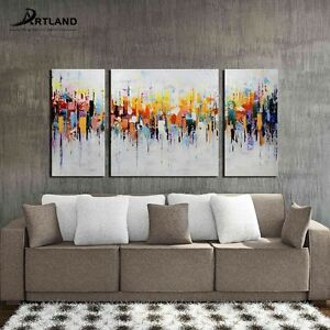 Image Is Loading Abstract Oil Painting Hand Painted Canvas Wall Art