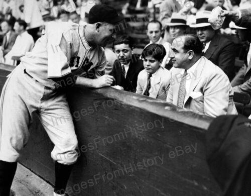 8x10 Print Gabby Hartnett Al Capone /& Son Wrigley Field 1931 #GH1