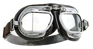 HALCYON Mk9 Super jet silver painted frame. GOGGLES GS46003
