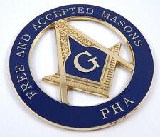 """Mason Masonic PHA Free and Accepted masons 3"""" Metal car Emblem decal MAS16"""