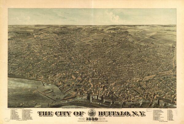 FleißIg A4 Nachdruck Von Amerikanische Städte Städte States Karte Buffalo Um Der Bequemlichkeit Des Volkes Zu Entsprechen