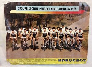 Vintage-Groupe-Sportif-Peugeot-Shell-Michelin-1985-Bicycle-Poster