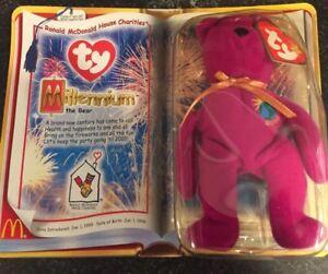 TY Millennium The Bear Teenie Beanie Baby McDonalds