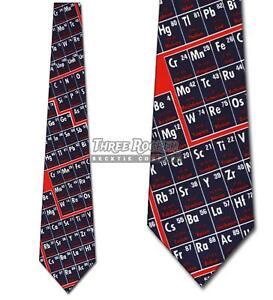 Periodic-Table-Tie-Science-Neckties-Mens-Chemistry-Elements-Neck-Tie-Brand-New