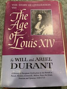 The Age Of Louis XIV by Will & Ariel Durant-1963 H/C D/J 1st Print VG+
