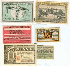Notgeld:Bitburg,Brunsbüttel,Bitterfeld,Brochau,Boel,