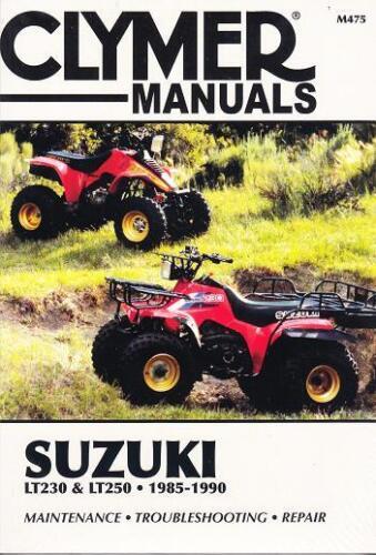 1985-1990 Suzuki LT230 LT250 Repair Service Workshop Shop Manual Book M475