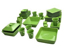 45 Piece Green Dinnerware Set Square Serving Dishes Plate Bowls Mugs Dining Home  sc 1 st  eBay & Banquet Dinnerware Set 45 Pcs Square Kitchen Dinner Plate Dish Bowl ...