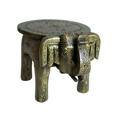 Brilliant Green Base Wooden Stool Elephant Home Decor Handicraft Gift Foot Step Stool 8 Ebay Dailytribune Chair Design For Home Dailytribuneorg
