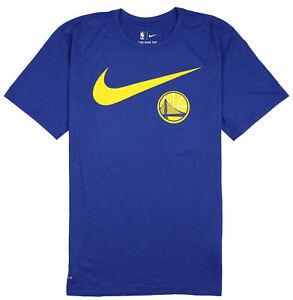 NIKE-Golden-State-Warriors-Swoosh-Team-Logo-T-Shirt-Medium-Blue-Basketball-NBA