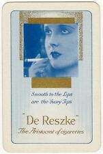 Playing Cards 1 Single Swap Card Old DE RESZKE Cigarettes LADY Smoking Cigarette