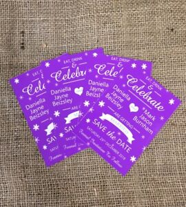 10 Personalised Magnetic Wedding Save the Date Cards with envelope
