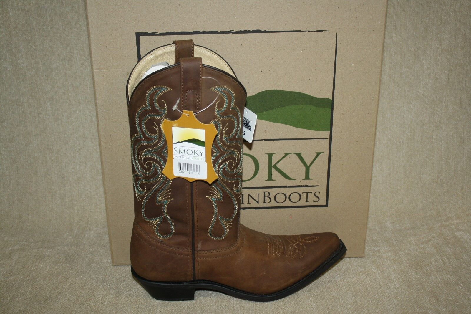 WOMENS SMOKY MOUNTAIN BOOTS BROWN 6253 BRISTOL  6253 i8 a