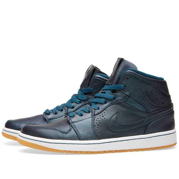Nike Air Jordan 1 Mid Nouveau Men's Size 12.5 Space bluee Black White 629151404