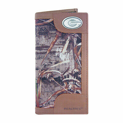 NCAA Georgia Bulldogs Camouflage Leather Roper Concho Wallet One Size