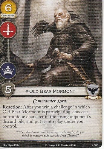 Old Bear Mormont AGoT LCG 2.0 Game of Thrones Watchers on the Wall 3