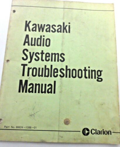 Kawasaki Audio Systems Troubleshooting Manual Clarion Voyager 46 Pages