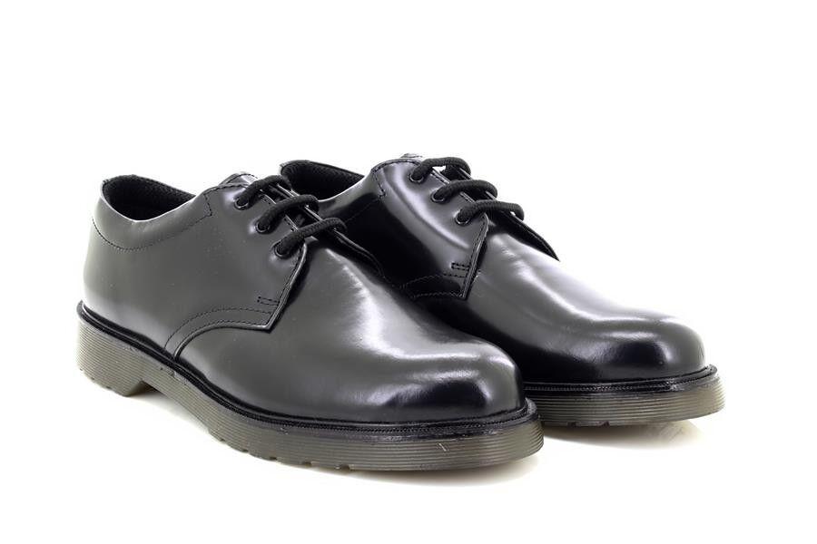 Grafters M385A Formale da Uomo Molto Lucide pelle Uniforme Scarpe