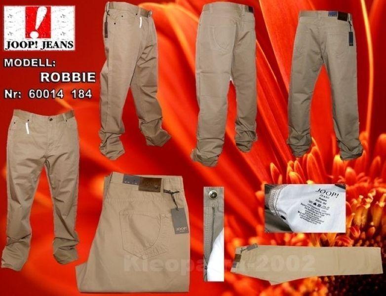 Jeans Hose JOOP  ROBBIE 60014 184 Modische Stoff Jeans Hose W38 L32 Beige Herren