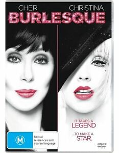 Burlesque-DVD-2011-Region-4-Used-Like-NEW-Cher-Christina-Agullera-FREE-POST
