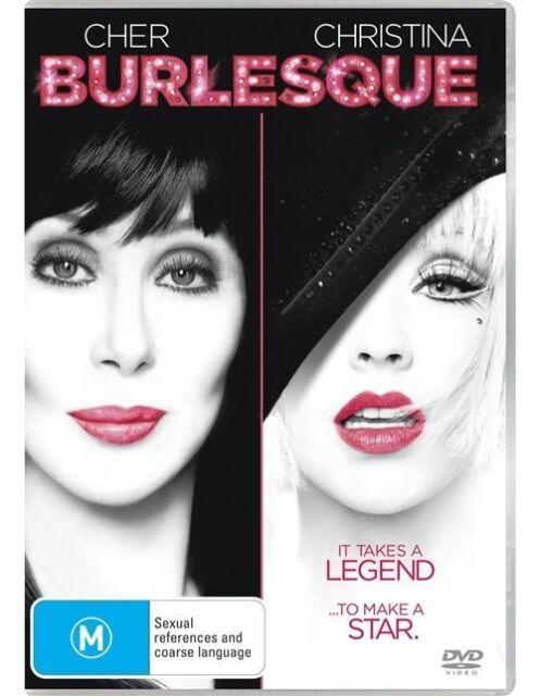 Burlesque (DVD, 2011) Region 4 Used Like NEW  Cher, Christina Agullera FREE POST