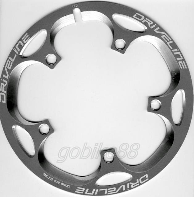 345 gobike88 Driveline TitaniumGray chainring guard 52T BCD 130mm 120g