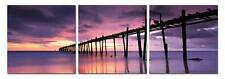 "47"" FRAMED Hot Modern Contemporary Canvas Wall Art Print Painting Purple Sunset"