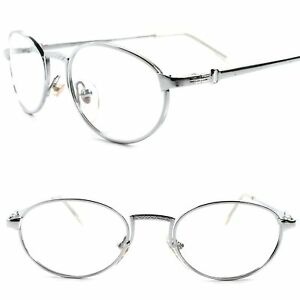 3fc0337ad07 Details about Classic True 70s 80s Vintage Mens Womens Clear Lens Eye Glasses  Silver Frames