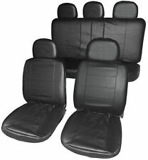VW CADDY MAXI LIFE Full Set Leather Look Front + Rear Seat Covers