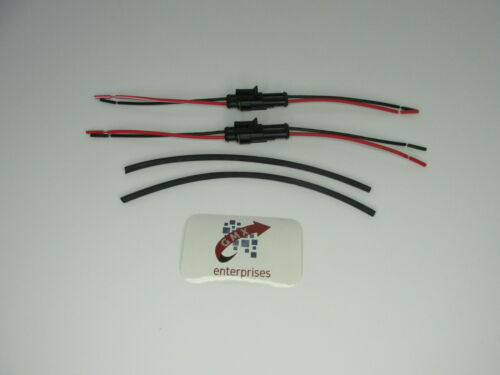 2 x 2 Way pré câblé étanche connecteurs électriques Plug avec fil Super Seal