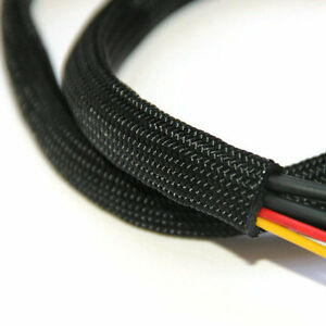 Braided Sleeving - Braid Cable Wiring Harness Loom Protection - Black | eBayeBay