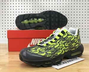 Details about Nike Air Max 95 Premium Men's 12 Logo Pack Volt Running Shoes 538416 019 New