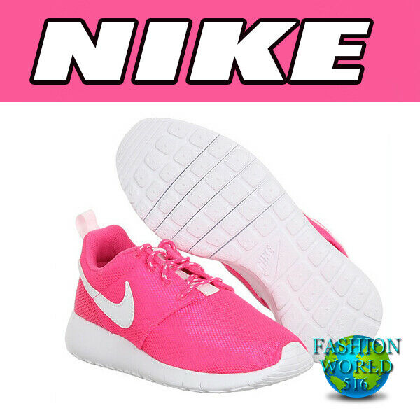 Pink Blast. Nike Roshe One Run  Girls Kids Junior Low Running Trainers Shoes