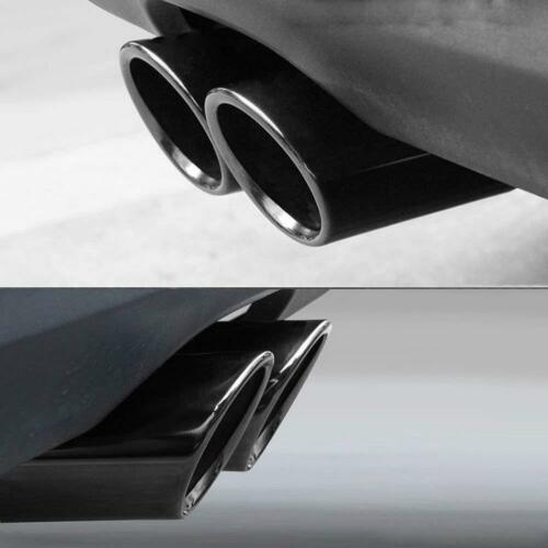 2x Black Exhaust Muffler Tail Pipe Tip Tailpipe Cover Trim For Audi A3 2008-2018