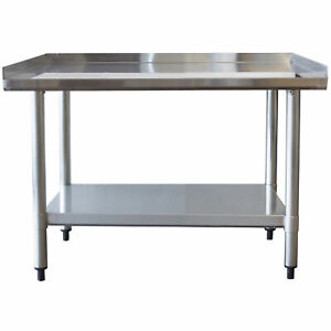 Sportsman-Series-Upturned-Edge-Stainless-Steel-Work-Table-24-x-36-Inches