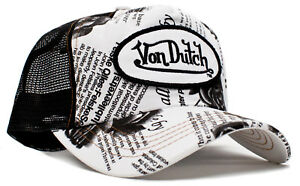 2ecc51e6 Authentic Brand New Von Dutch Black Rose Cap Hat Mesh Snapback Black ...