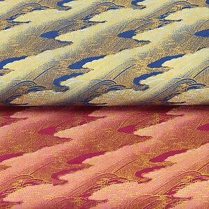 Japanese-Cotton-Print-Fabric-FQ-Oriental-Golden-Sea-Wave-Asian-Retro-Dress-VJ20