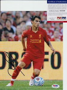 SUSO-SPAIN-LIVERPOOL-LFC-SIGNED-AUTOGRAPH-8X10-PHOTO-PSA-DNA-COA-1