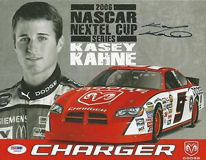 Kasey Kahne Signed Nascar 2006 Dodge Charger Hero Photocard - PSA