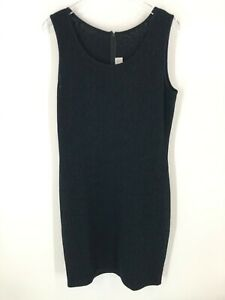 ST-JOHN-Collection-Knit-Black-Sheath-Dress-Floral-Lace-Sleeveless-LBD-Size-12-Lg