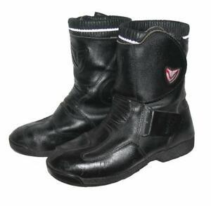 VENDRAMI-Herren-Motorradstiefel-Biker-Boots-Stiefel-in-schwarz-Gr-41-5